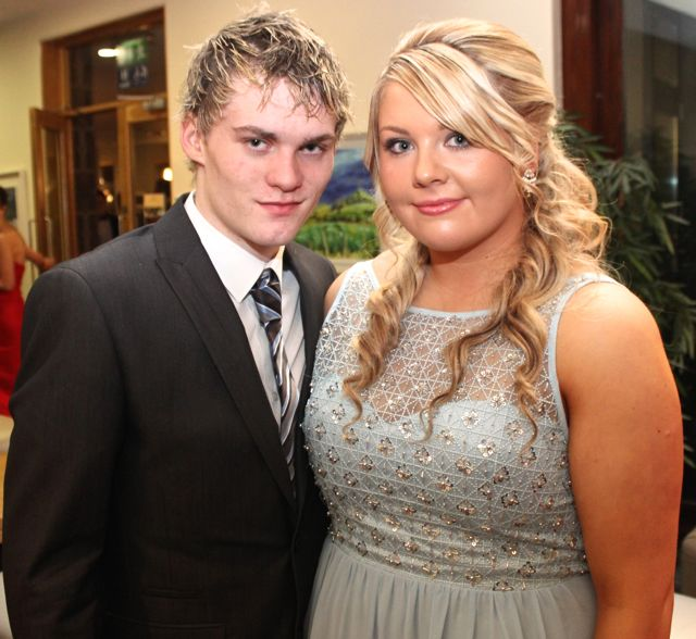 George Maher and Shannon Stapleton at the IT Tralee Students Ball at the Ballyroe Heights Hotel on Wednesday night. Photo by Dermot Crean