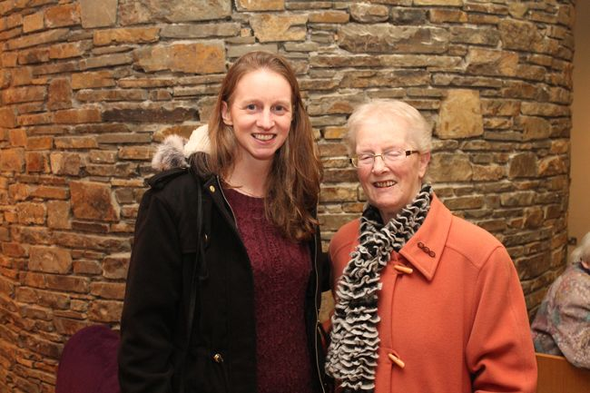Sandra and Pauline Byrne at the opening night of the Light Opera Society of Tralee's production of 'Into The Woods' in Siamsa Tíre on Thursday. Photo by Oscar Brophy