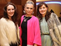 Anne Marie O'Leary, Agne Kremenskiene and Doranne Hickey at the Kerry Fashion Week Awards Night at the Europe Hotel, Killarney on Friday night. Photo by Dermot Crean