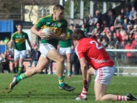 Peter Crowley finds a gap in the Cork defence. Photo by Gavin O'Connor.