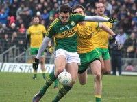 David Moran get's a shot away against Donegal. Photo by Dermot Crean.