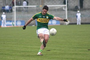 Before, Bryan Sheehan, was taken off becuase of a back injury he was in fine form from the dead ball. Photo by Dermot Crean.