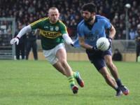 Barry John Keane, in hot pursuit of Dublin's Cian O'Sullivan. Photo by Dermot Crean.