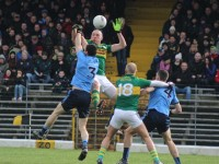 Kieran Donaghy contests a ball with Rory O'Carroll. Photo by Dermot Crean.