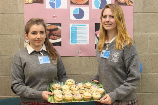 Intermediate School Killorglin students Naoise Purcell and Simone O'Shea at the Kerry LEO Student Enterprise Awards at the ITT on Friday. Photo by Gavin O'Connor
