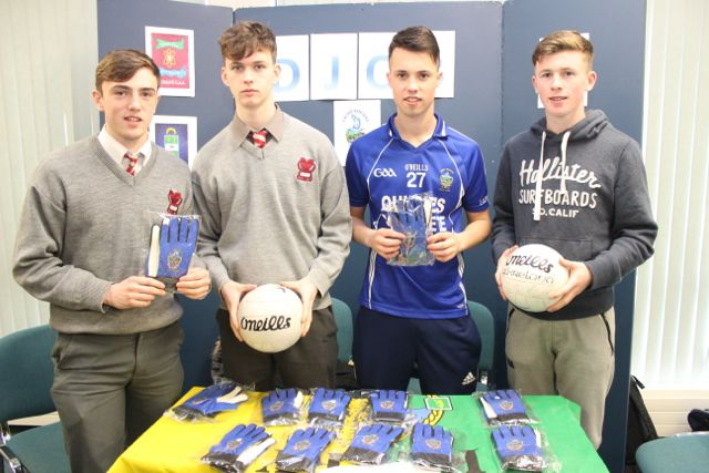 Students from Intermediate School Killorglin, Neil O'Brien, Jack Cox, Daniel Whittleton and Callum Teahan at the Kerry LEO Student Enterprise Awards at the ITT on Friday. Photo by Gavin O'Connor