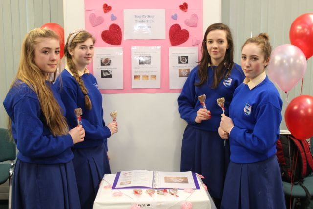 Students from St Brigid's Killarney, Keely O'Connor, Kayleigh McCarthy, Ada Fleming and Rowan Collier at the Kerry LEO Student Enterprise Awards at the ITT on Friday. Photo by Gavin O'Connor