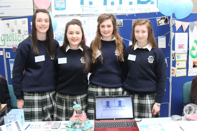 Presentation Tralee Secondary School students Lucy McGrath, Laura O'Connell, Susie Rice, Sinead Carney at the Kerry LEO Student Enterprise Awards at the ITT on Friday. Photo by Gavin O'Connor