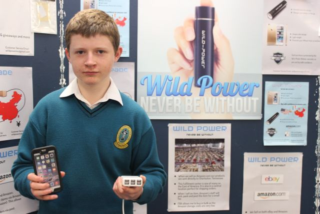 Mercy Mounthawk student Brian Doherty at the Kerry LEO Student Enterprise Awards at the ITT on Friday. Photo by Gavin O'Connor