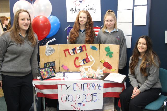 Students from Tarbert Comprehensive,  Aine O'Neill, Caolainn Healy, Niamh O'Connell and Aoife McDonagh at the Kerry LEO Student Enterprise Awards at the ITT on Friday. Photo by Gavin O'Connor