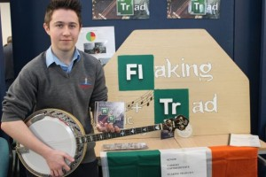 Tarbert Comprehensive student, Timmy Flaherty at the Kerry LEO Student Enterprise Awards at the ITT on Friday. Photo by Gavin O'Connor