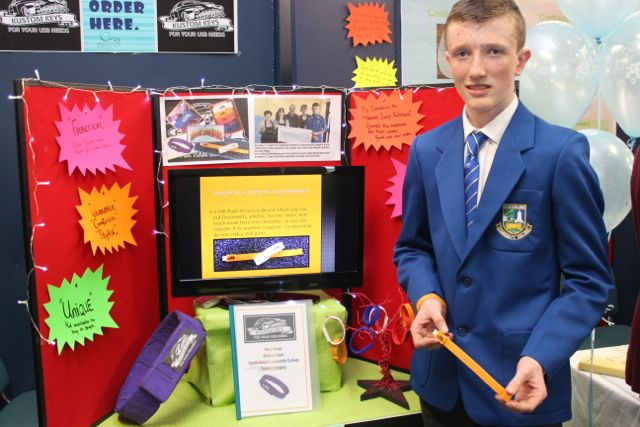 Castleisland Community College student Gary Horan at the Kerry LEO Student Enterprise Awards at the ITT on Friday. Photo by Gavin O'Connor