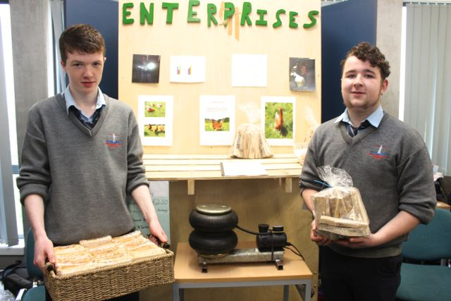 Students from Tarbert Comprehensive were Eoin Cregan and James Shine at the Kerry LEO Student Enterprise Awards at the ITT on Friday. Photo by Gavin O'Connor