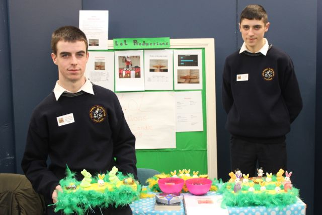 Scoil Phobail Sliabh Luachra students John O'Leary and Dara Looney at the Kerry LEO Student Enterprise Awards at the ITT on Friday. Photo by Gavin O'Connor