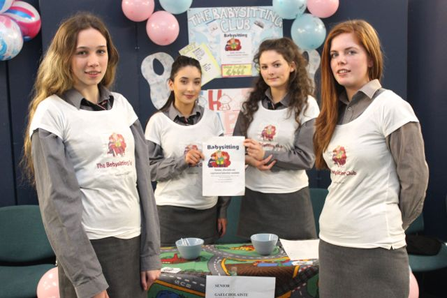 Students from Gaelcholáiste Chiarraí were, from left : Riona Bhreathnach, Sinead Ni Loinsigh and Ruby Verling and Caitlin Ni Chonchubhairat the Kerry LEO Student Enterprise Awards at the ITT on Friday. Photo by Gavin O'Connor