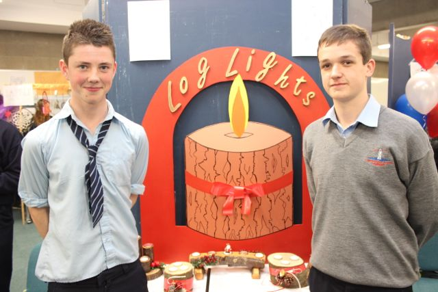 Students from Tarbert Comprehensive, Matthew Finucane and Paul Murphy at the Kerry LEO Student Enterprise Awards at the ITT on Friday. Photo by Gavin O'Connor