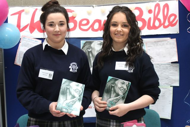 Presentation Secondary School students Sarah Gavaghan and Isabel O'Donoghue at the Kerry LEO Student Enterprise Awards at the ITT on Friday. Photo by Gavin O'Connor