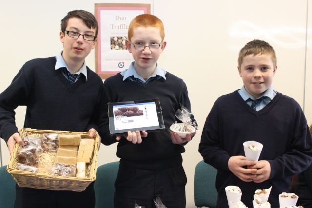 Students from St Joseph's Ballybunion were, from left: Gerard Nagle, Jason Reidy and Stephen O'Carroll at the Kerry LEO Student Enterprise Awards at the ITT on Friday. Photo by Gavin O'Connor