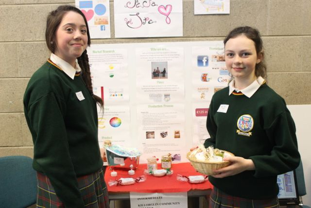 Students from Killorglin Community College, Jade O'Connor and Aisling Murphy at the Kerry LEO Student Enterprise Awards at the ITT on Friday. Photo by Gavin O'Connor