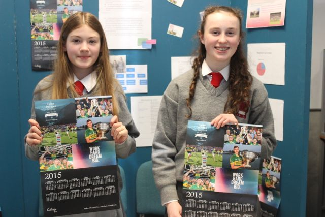 Students from Intermediate School Killorglin, Niamh Coffey and Marjorie O'Brien at the Kerry LEO Student Enterprise Awards at the ITT on Friday. Photo by Gavin O'Connor