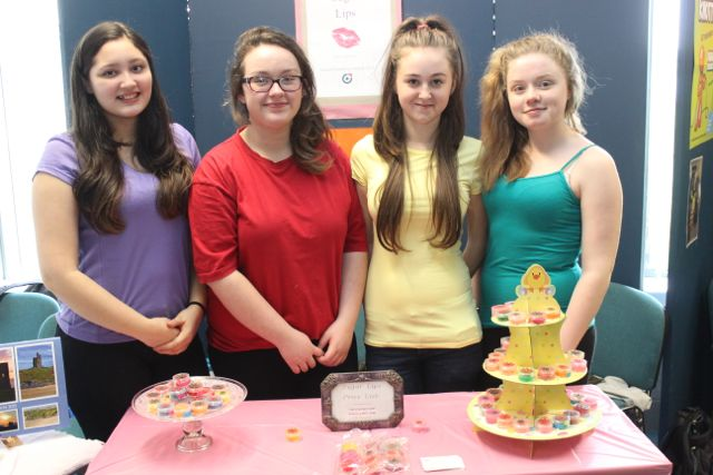 Students from St Joseph's Ballybunion, Karis Kunwor, Mia Fitzpatrick, Claudia Healy and Ellie Leen at the Kerry LEO Student Enterprise Awards at the ITT on Friday. Photo by Gavin O'Connor