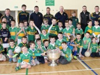 Marc Ó Sé with youngsters and club members at the John Mitchels Registration Day on Sunday. Photo by Dermot Crean
