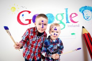09/03/2015***NO REPRO FEE***pictured are Rhys Barry (7) and Carey Barry (4), from Donaghmede as Google asks the public to vote for their favourite doodle.  The Doodle 4 Google creative art competition is in its seventh year The winning student will receive a €5,000 scholarship towards their third-level studies and will have their Doodle displayed on the google.ie home page for thousands to see. A technology grant of €10,000 will also be presented to the winning Doodler's school.  Further information is at www.google.ie/doodle4google/ Pic: Marc O'Sullivan