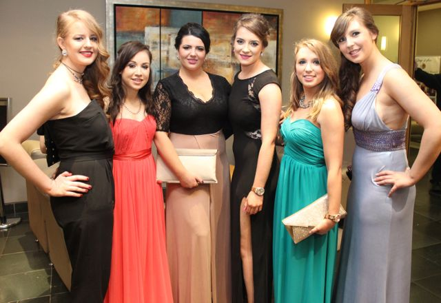 Suzanne Barron, Rhone McBreen, Shona Harrington , Stephanie Hayes, Niamh Hayes and Valerie Lynch at the ITT NAGS Ball on Thursday night at the Ballyroe Heights Hotel. Photo by Dermot Crean