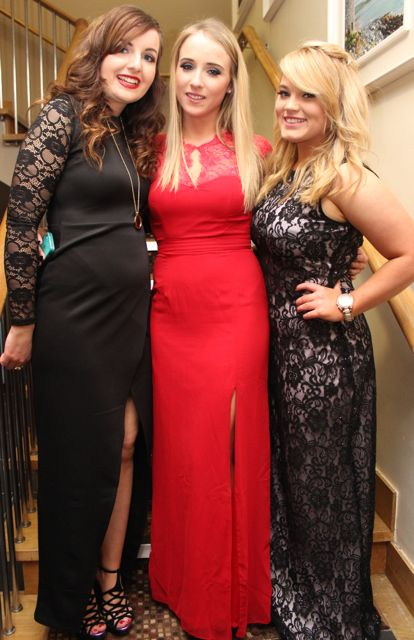 Jennifer Lynch, Diane O'Connor and Jenny Plunkett at the ITT NAGS Ball on Thursday night at the Ballyroe Heights Hotel. Photo by Dermot Crean