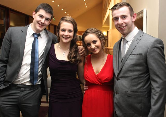 David Gallinagh, Sarah Brosnan, Katie O'Sullivan and Robert Powell at the ITT NAGS Ball on Thursday night at the Ballyroe Heights Hotel. Photo by Dermot Crean