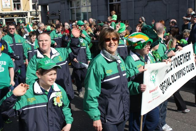 Members of the Tralee Together Special Olympics Club at the parade. Photo by Dermot Crean