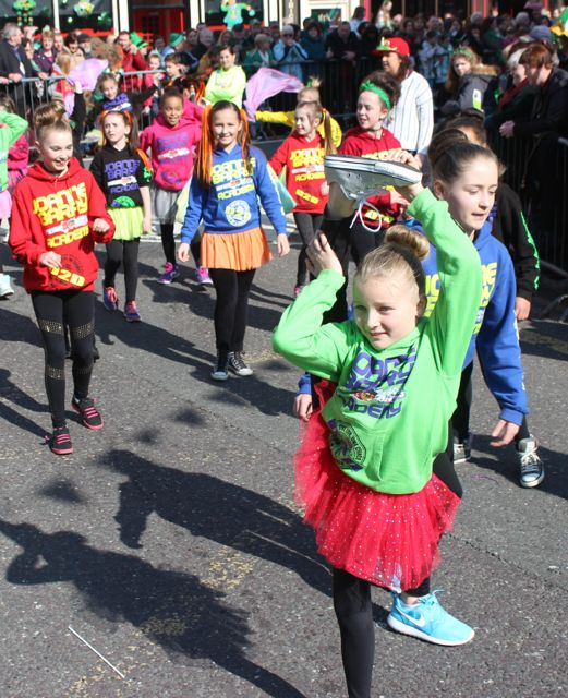 An agile member of Joanne Barry's dance school at the parade. Photo by Dermot Crean
