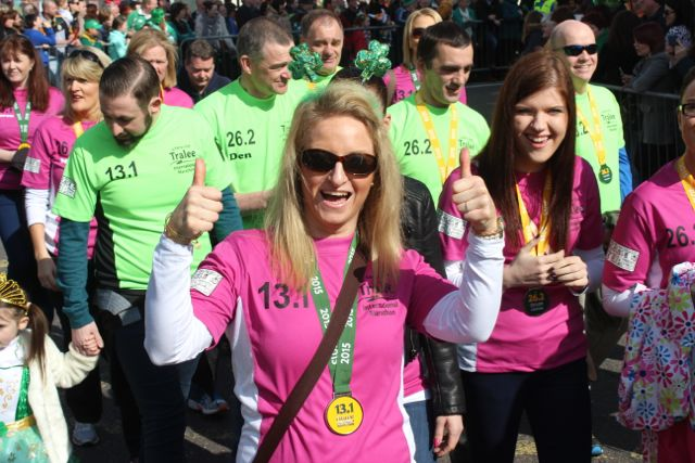 Melissa Ryan, who ran in the half-marathon on Sunday at the parade. Photo by Dermot Crean