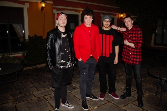 Q14 pictured before their gig in The Meadowlands Hotel on Friday. Photo by Dermot Crean