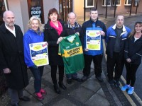 Launching the Kerins O'Rahilly's Ladies 5K Easter Fun Run were, from left: Frank O'Connor, Christina Curtin, Bernice Hoffman, James Hayes, David Collins, Frank Mcloughlin and Yvonne Quill. Photo by Gavin O'Connor.