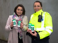Veronica Kelly of Tralee Lions Club and Garda Irene Riordan launch the Message in a Bottle Campaign.
