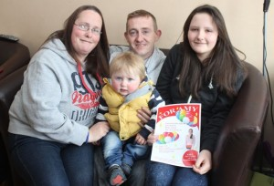Amy O'Connor (right) with Sharon O'Connor, John O'Connell and little Adam O'Connell. Photo by Dermot Crean