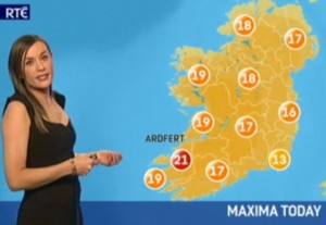 Ardfert on the map on RTE's Nine News