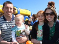 Tommy and Siobhan Brosnan with children Leah and Katie at the Ballyseedy BBQ Fun Weekend event on Saturday. Photo by Dermot Crean