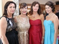 Mary Muphy, Marie Flynn, Siobhan Dowling and Elaine Moran at the Primrose Black Tie Gala Ball at the Ballygarry House Hotel on Friday night. Photo by Dermot Crean