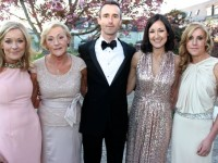 The late Tommy Brosnan's family, at the Primrose Black Tie Gala Ball at the Ballygarry House Hotel on Friday night. From left; Kate, Marelda, Niall, Aisling and Niamh Brosnan. Photo by Dermot Crean