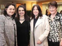 Suzanne Doyle, Deirdre Kelly, Christina Doyle and Joan Kelly at the Churchill GAA Fashion Fundraiser at the Ballyroe Heights Hotel on Thursday night. Photo by Dermot Crean