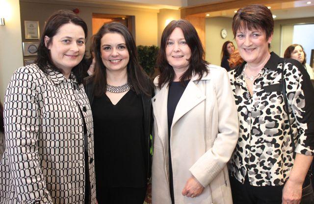 Suzanne Doyle, Deirdre Kelly, Christina Doyle and Joan Kelly at the Churchill GAA Fashion Fundraiser at the Ballyroe Heights Hotel on Thursday night. Photo by Dermot Crean