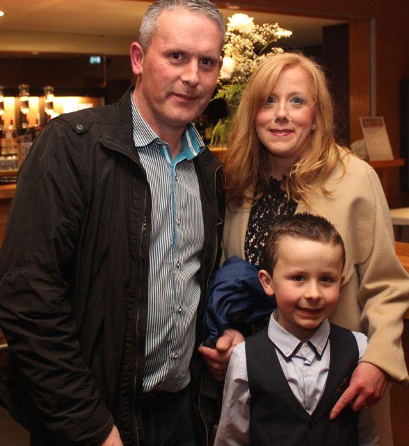 John, Teresa and Cian McKenna at the Churchill GAA Fashion Fundraiser at the Ballyroe Heights Hotel on Thursday night. Photo by Dermot Crean