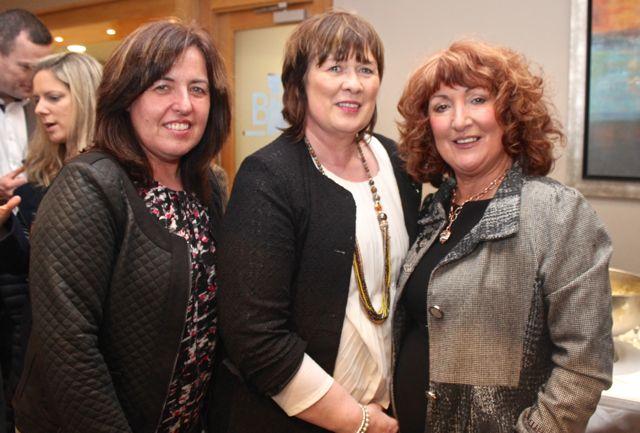 Ann Ellard, Breda O'Callaghan and Julianne Daly at the Churchill GAA Fashion Fundraiser at the Ballyroe Heights Hotel on Thursday night. Photo by Dermot Crean