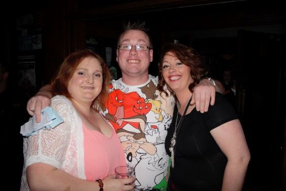 Comedy Carol O'Sullivan, organiser Seamus Kelly and Jen Hurley (Custom)