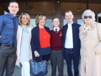 Kieran Collins of Holy Family NS who made his confirmation on Thursday at Our Lady and St Brendan's Church, with Fintan, Sarah, Rose and Ian Collins and Kay McDonnell. Photo by Dermot Crean