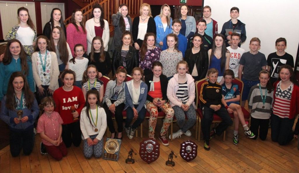 Young members of Tralee Imperials at the club awards night in O'Donnell's Mounthawk on Friday night. Photo by Dermot Crean