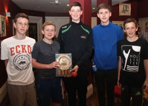 At the Tralee Imperials Basketball Club Awards night in O'Donnell's Mounthawk on Friday night were,   Josh Hayes, Pauric Linnane, Darragh Kennelly, Tristan Raymond and David Burke. Photo by Dermot Crean