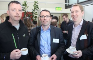 Martin McGowan, Ullcatch Fishing, with Paul Keenan and John O'Flaherty FR Kelly Patent Attorney Firm, Dublin at the Kerry LEO Free Seminar on 'Building a Business on Your Ideas' at the ITT on Thursday. Photo by Dermot Crean